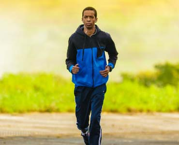 how to live a healthier life man jogging