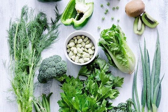 greens for a healthy mind and body