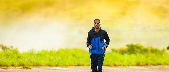 life coach man running
