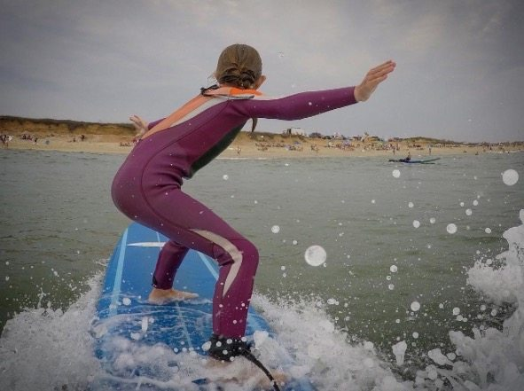 sharing more than selling girl surfing