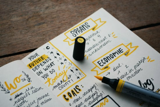 personal planner notes