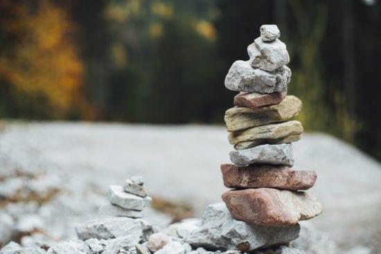 rocks pyramid