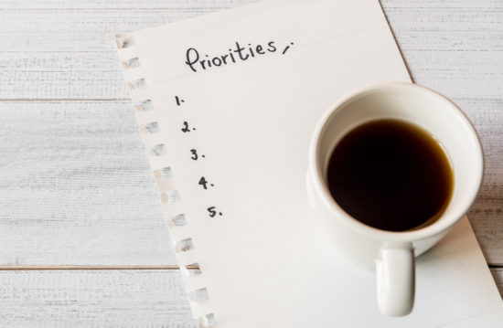 determine your priorities to develop time management skills