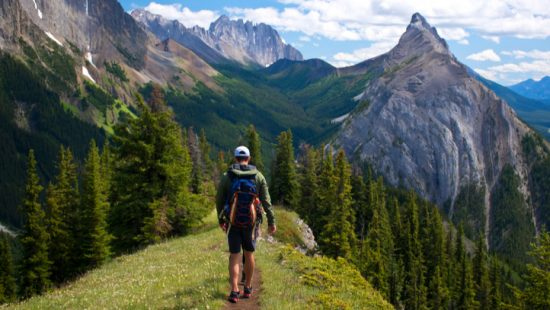 man hiking and feeling the gift of grace